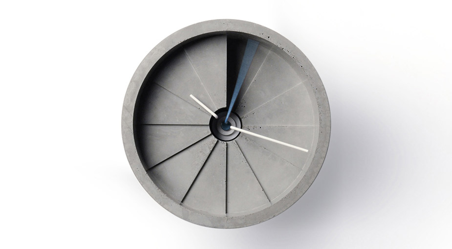 4th Dimension Concrete Wall Clock by 22 Design Studio