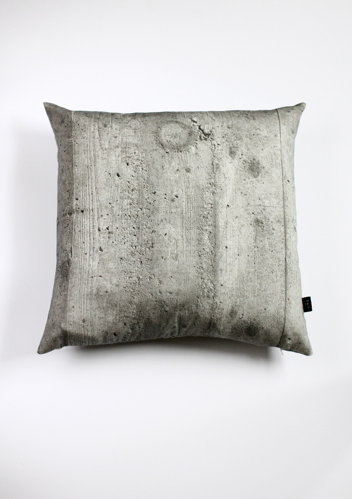 """Concrete"" Pillow by How Are You"