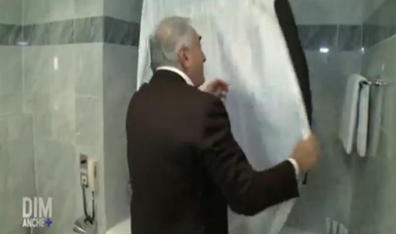 DSK costume repasser un costume baignoire