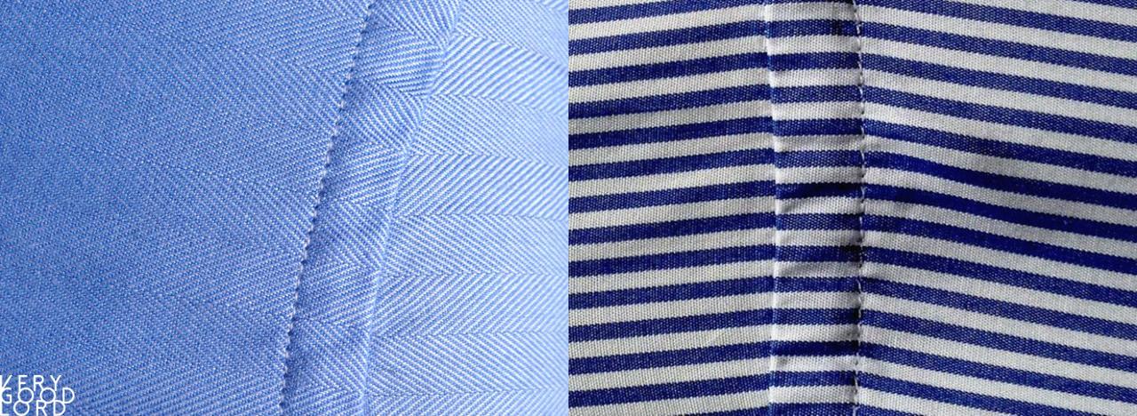 Alignement motifs chemise trame et motifs