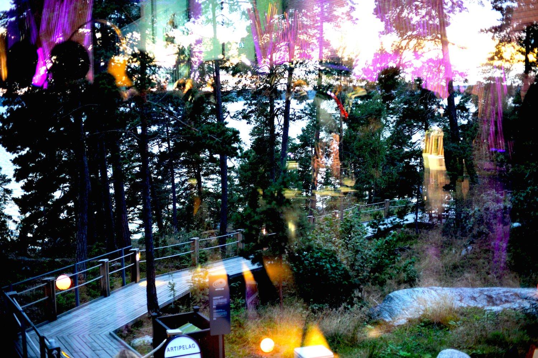 lancement VOLVO XC90 2014 Stockholm artipelag lumiere soleil se couche