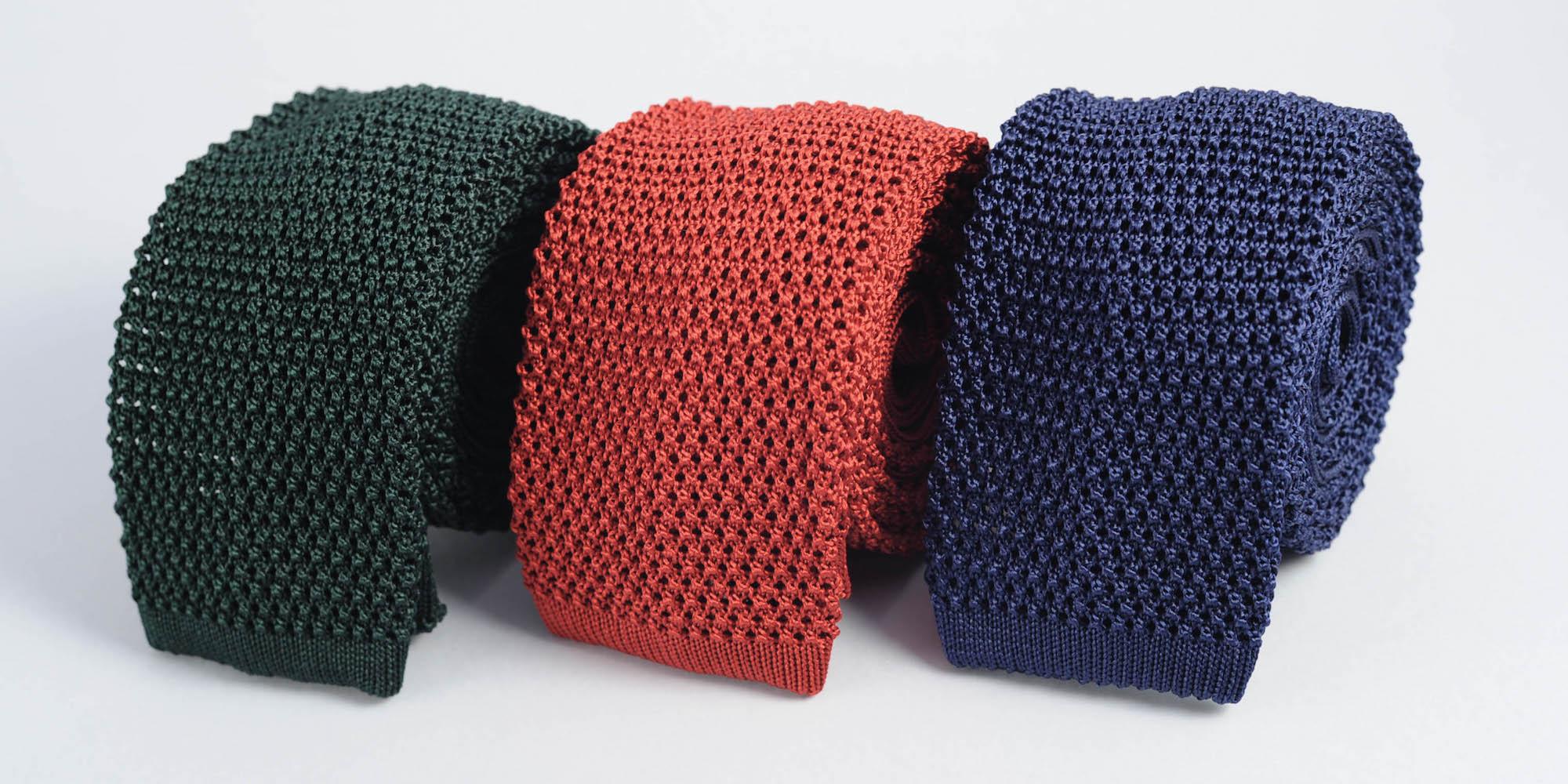 tricoter une cravate pour homme