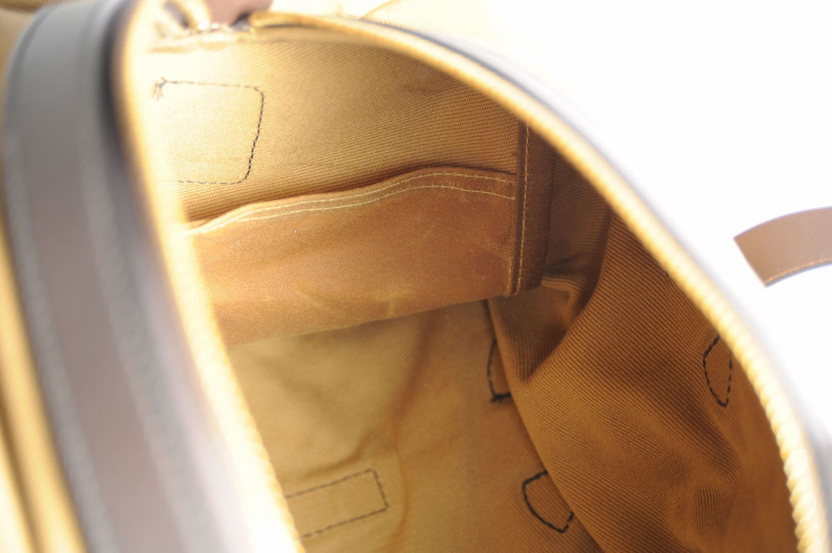 filson duffle tan small test avis interieur