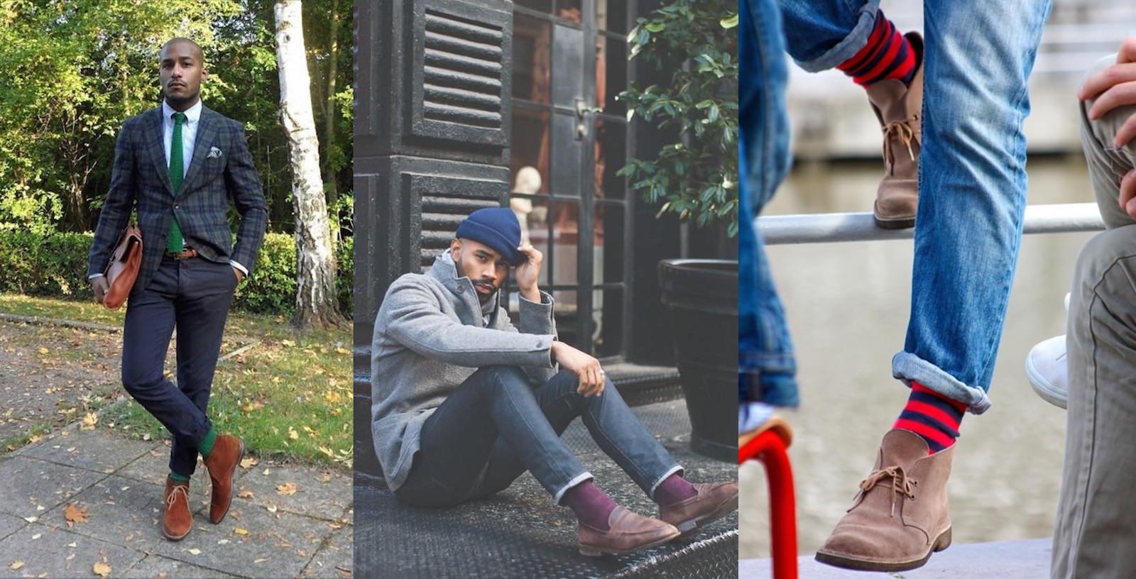 Comment bien choisir la couleur de ses chaussettes homme - Couleur avec bleu marine ...
