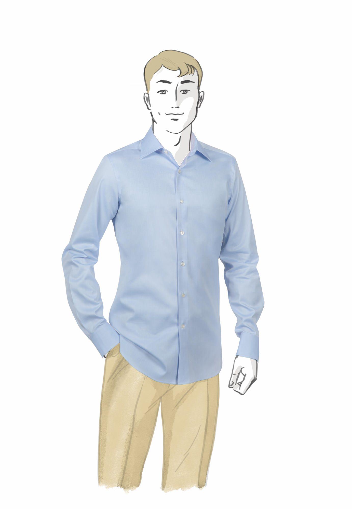 Chemise-Bleue-KALGATI-Face
