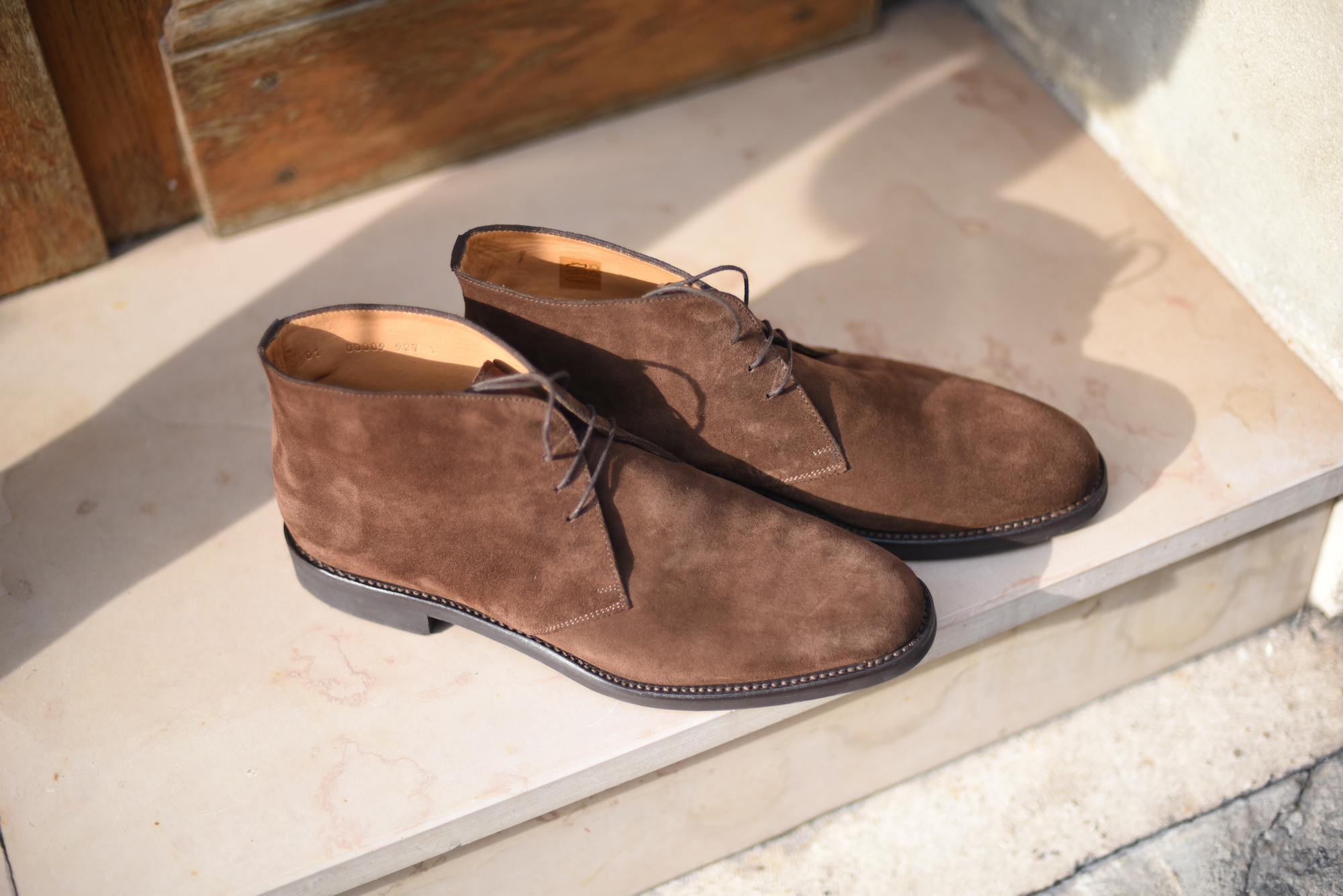 ypsons chukka boots maron