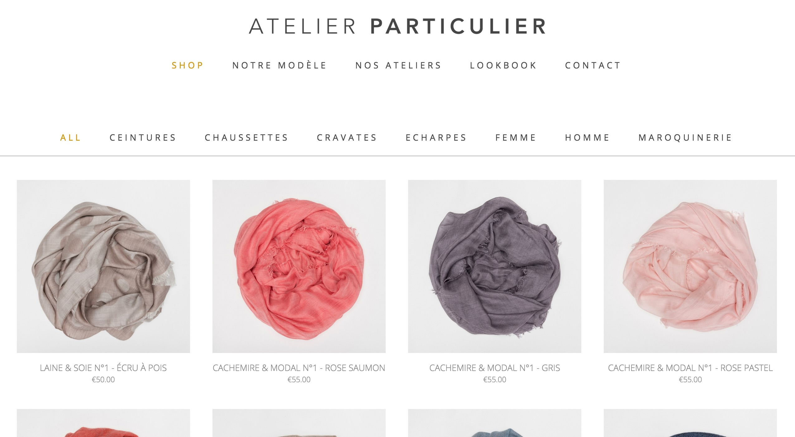 atelier particulier foulard