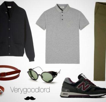 look homme casual detendu week-end campagne khaki