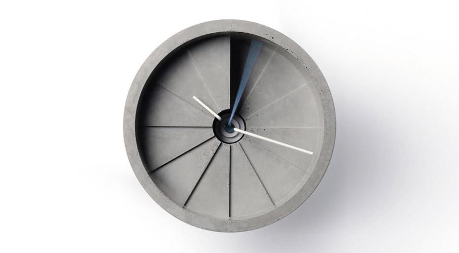 4th Dimension Concrete Wall Clock by 22 Design Studio