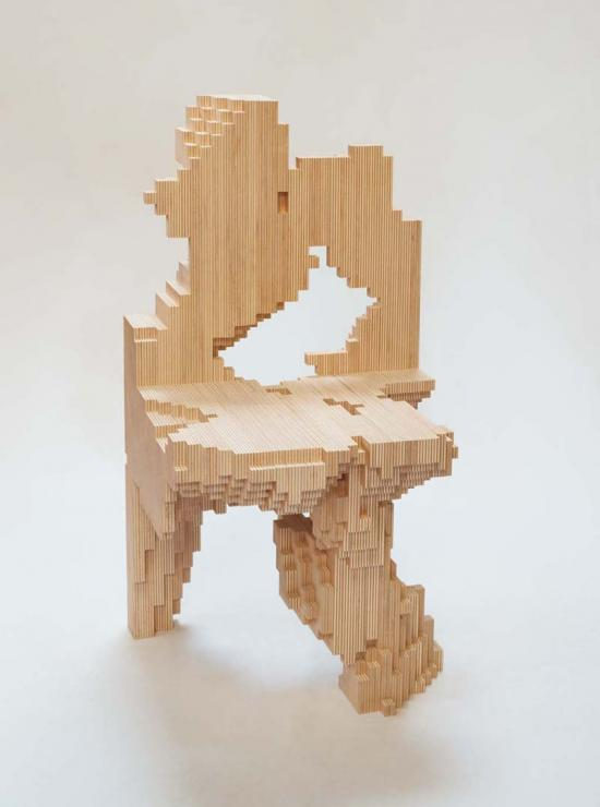 Chair Model T1-M, After 860 Generations - EZCT Architecture & Design Research - FRAC CENTRE