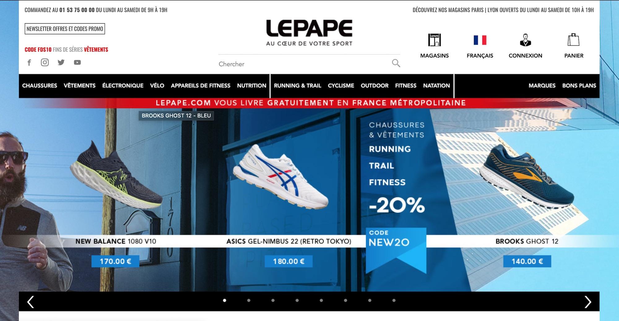 site internet lepape.fr