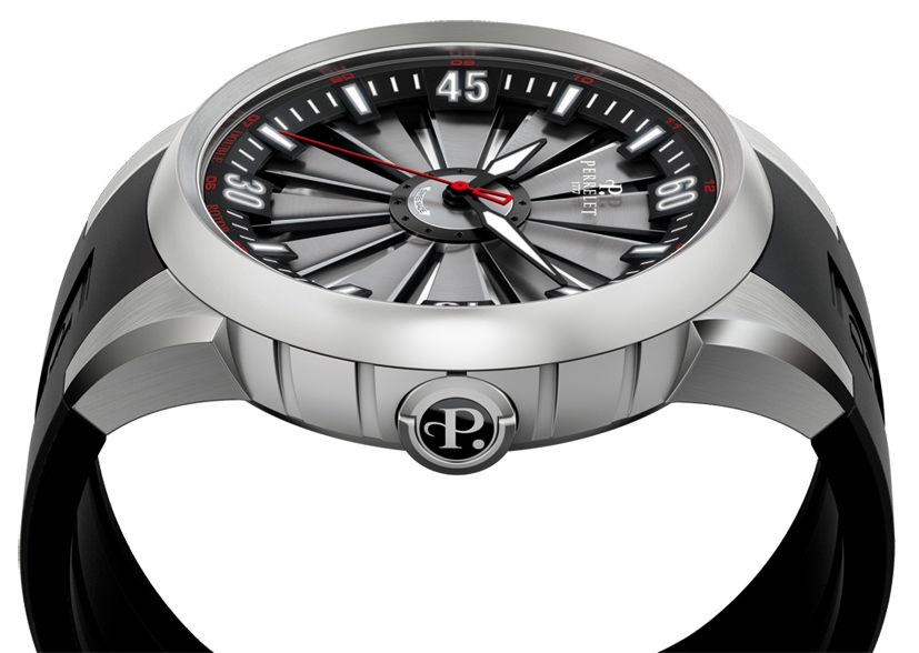 perrelet Turbine grise montre homme