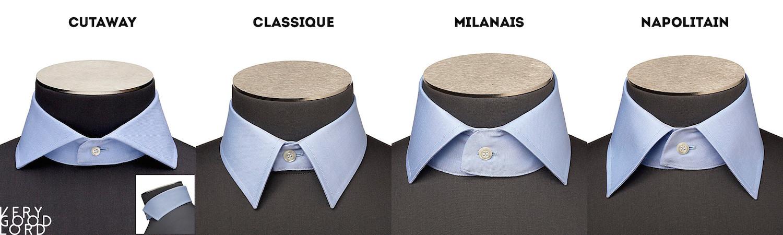 les types de cols de chemise homme - verygoodlord