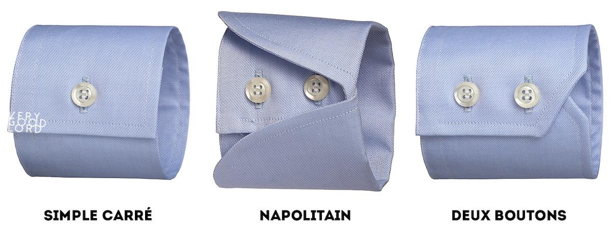 les types de poignets de chemise homme 2 - verygoodlord
