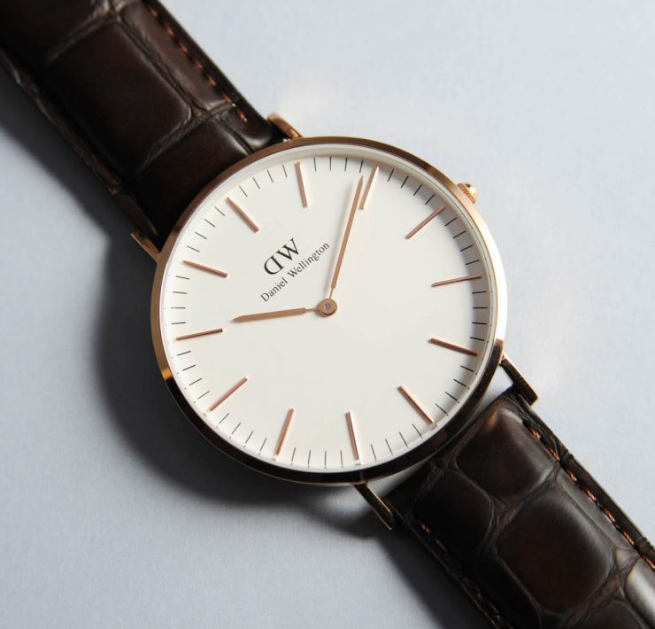 montre daniel wellington homme Classic York face or rose hq