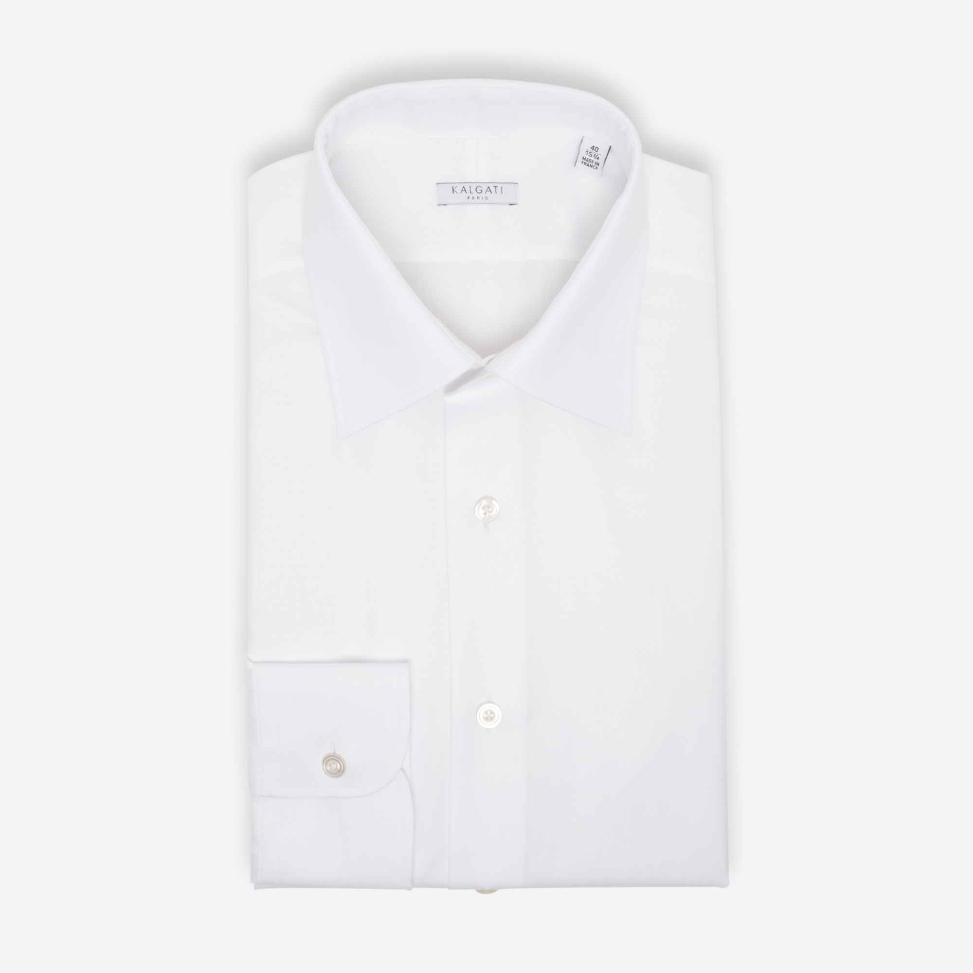 chemise blanche made in france luxe