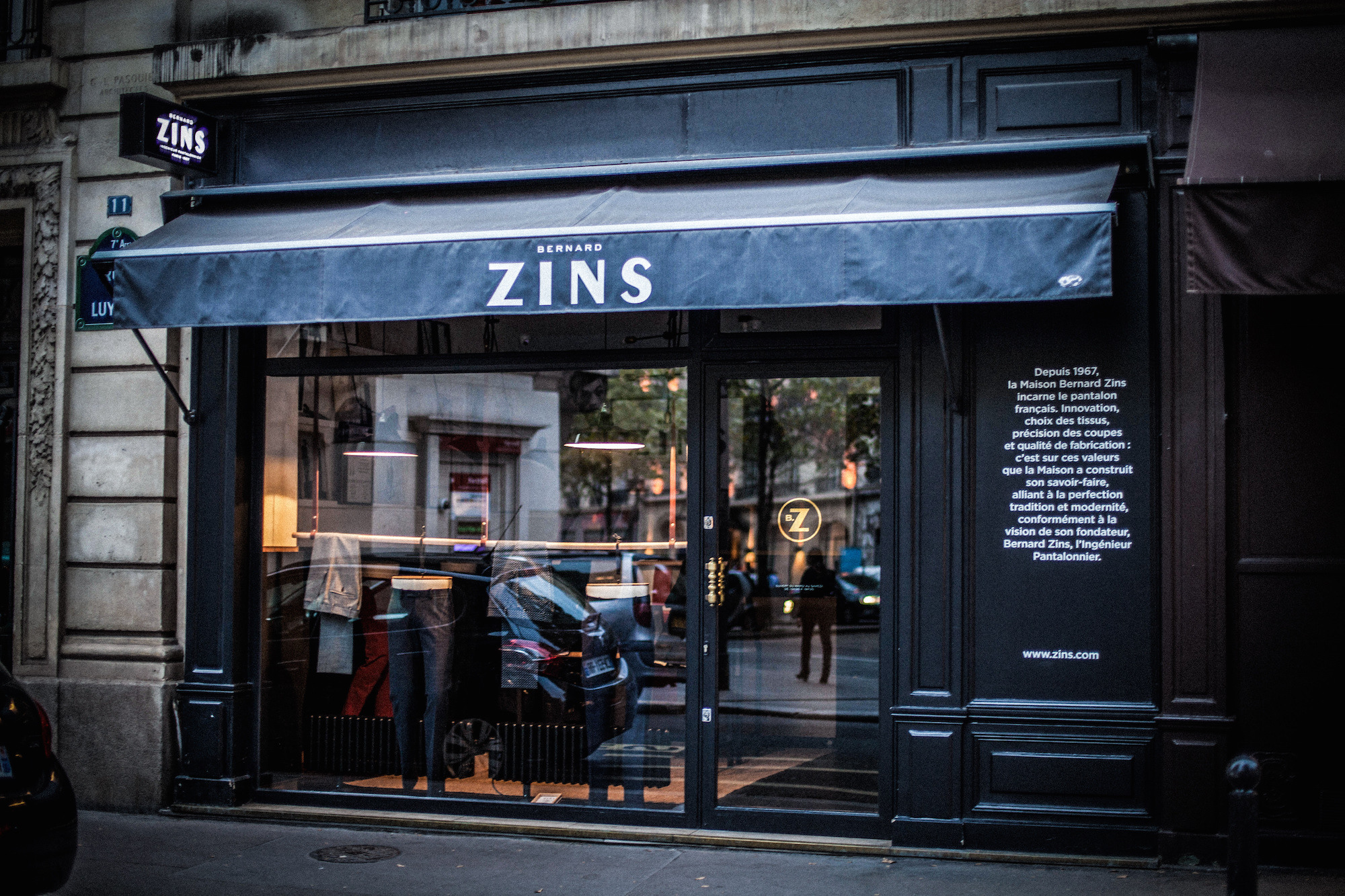 boutique bernard zins paris