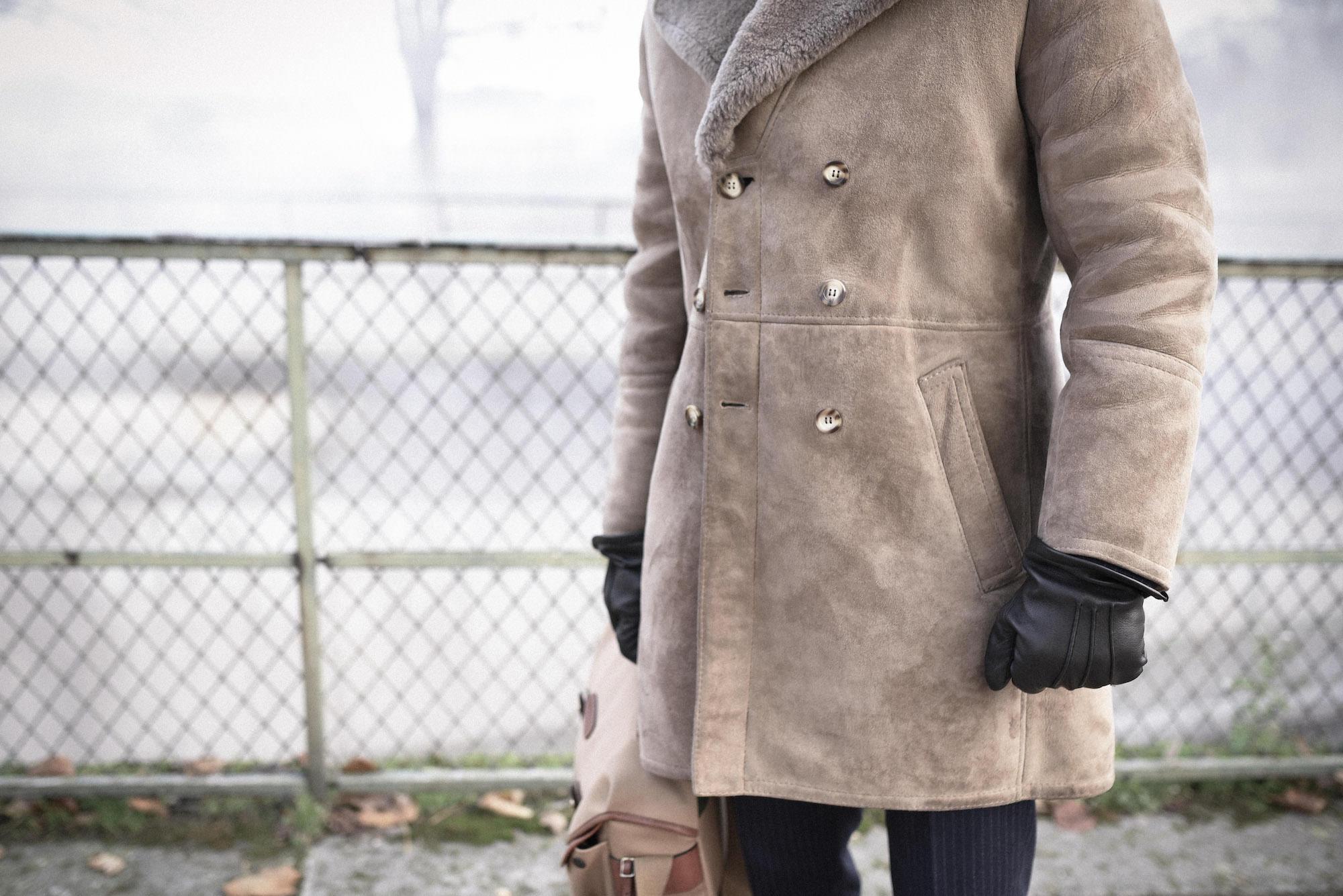 Manteau femme imitation mouton retourne