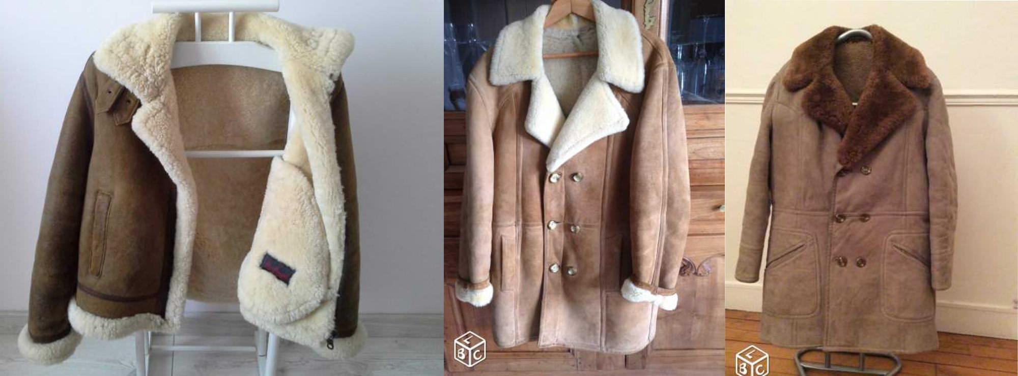 leboncoin mode homme peau lainée