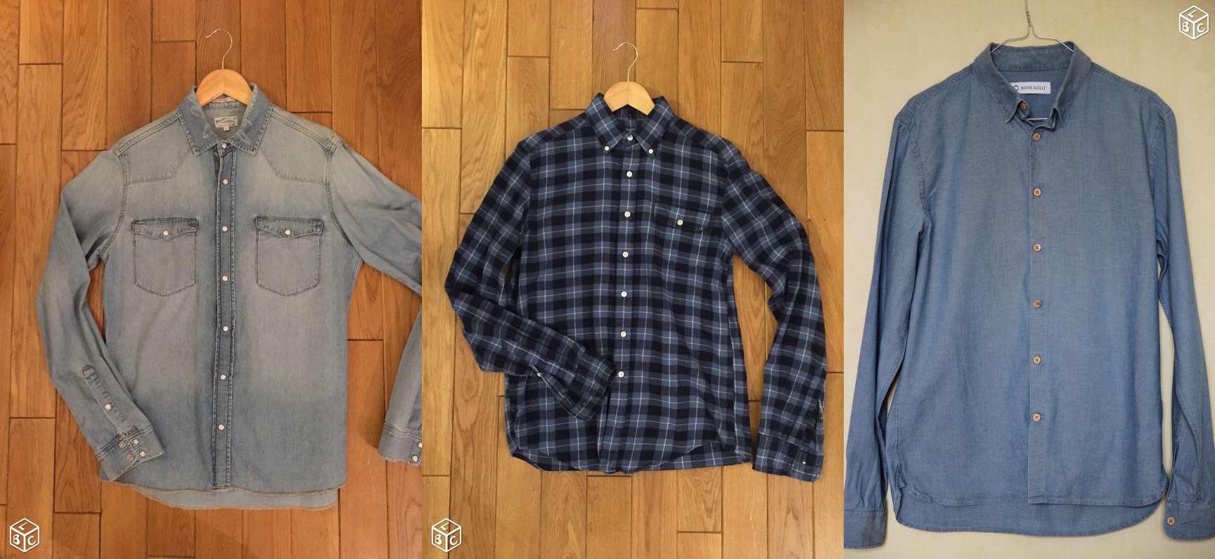 chemise homme pas cher
