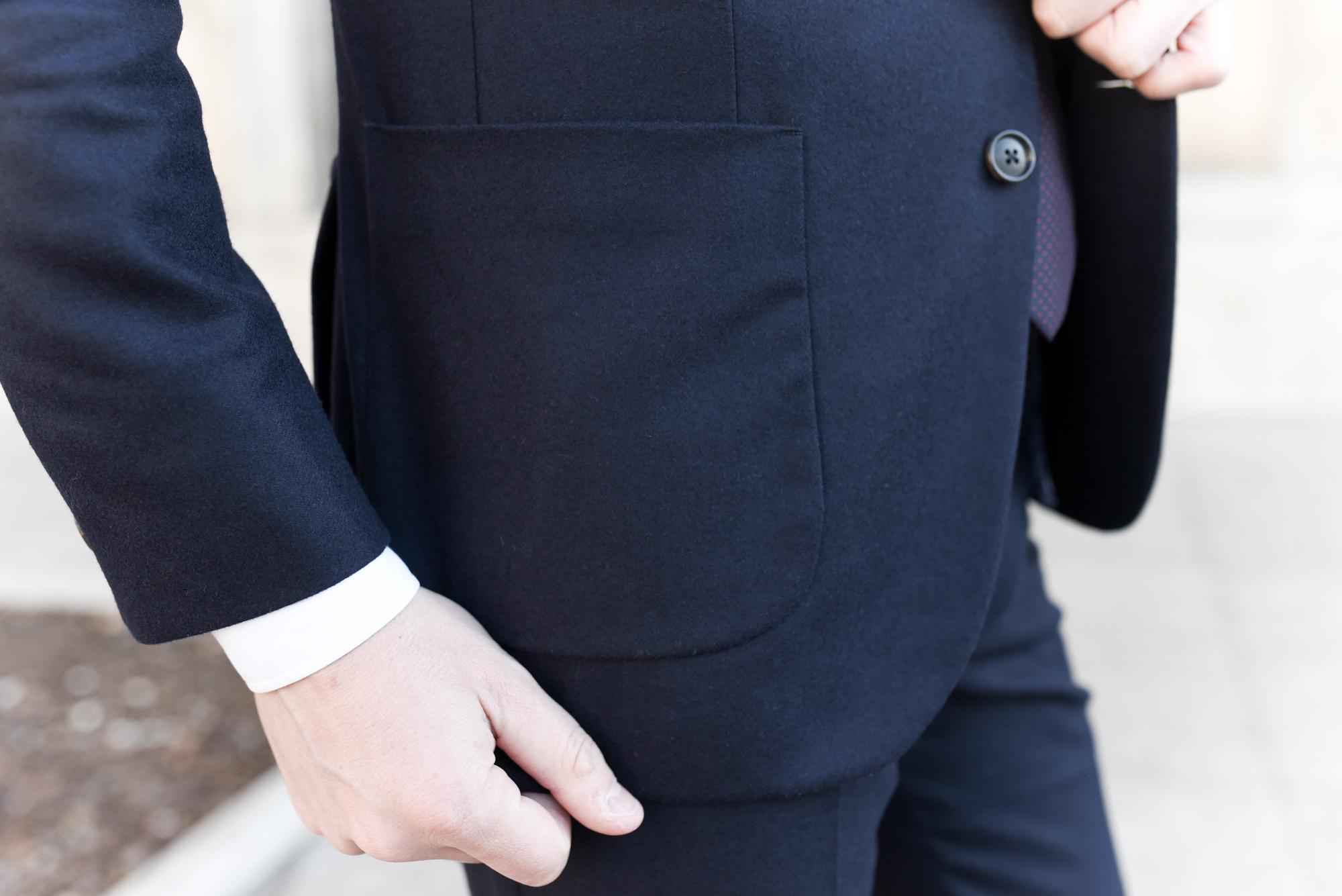 costume poches plaquées
