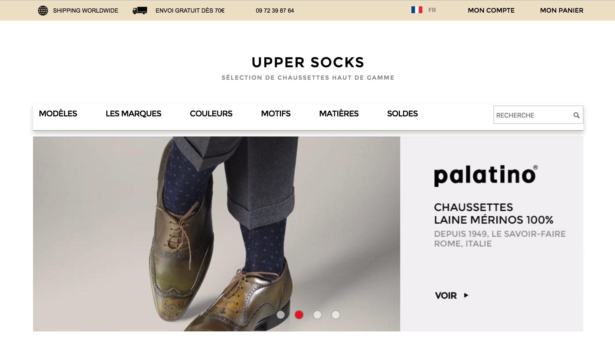 boutique upper socks