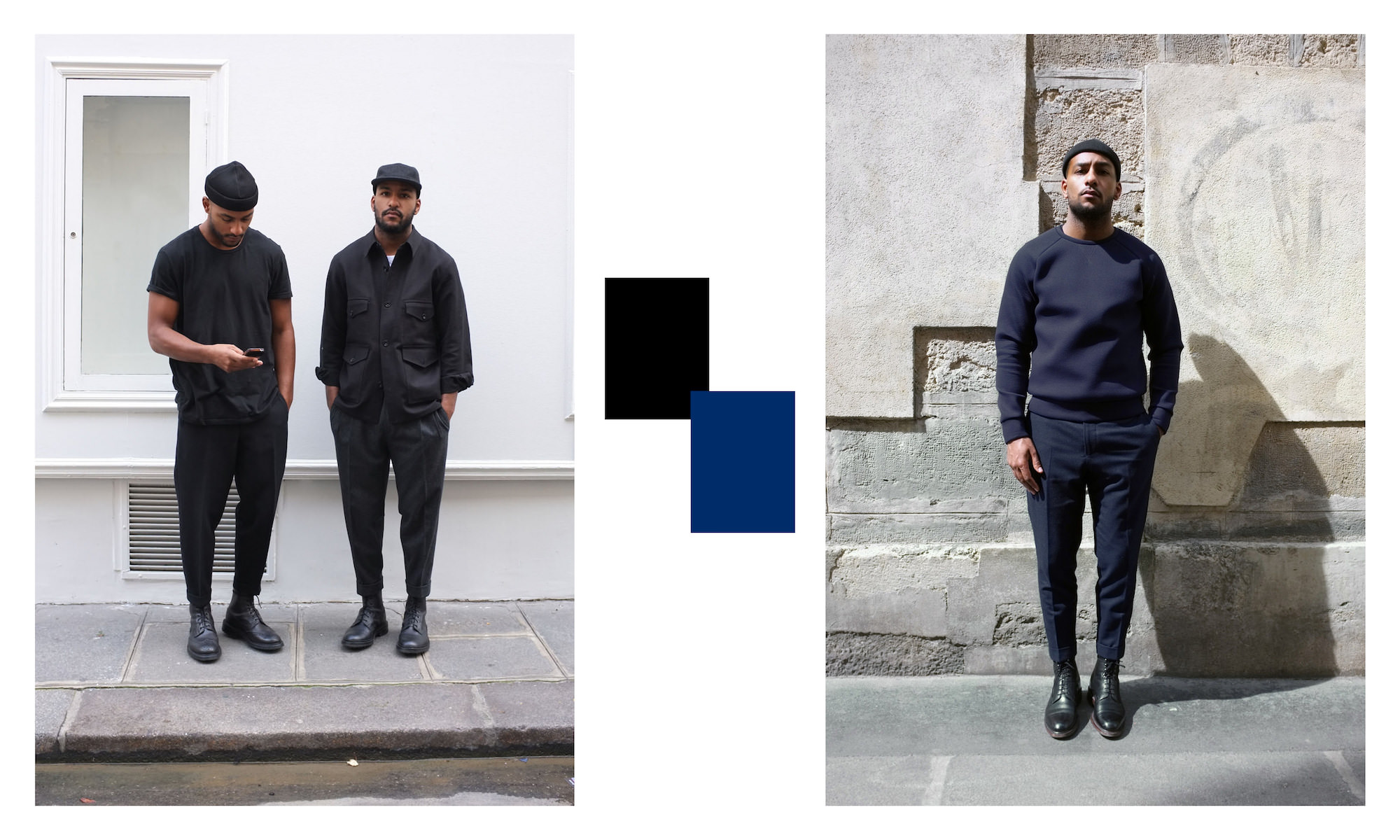 look monochrome homme frere joe