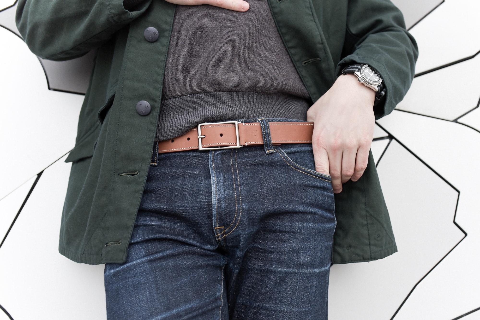 ceinture marron homme