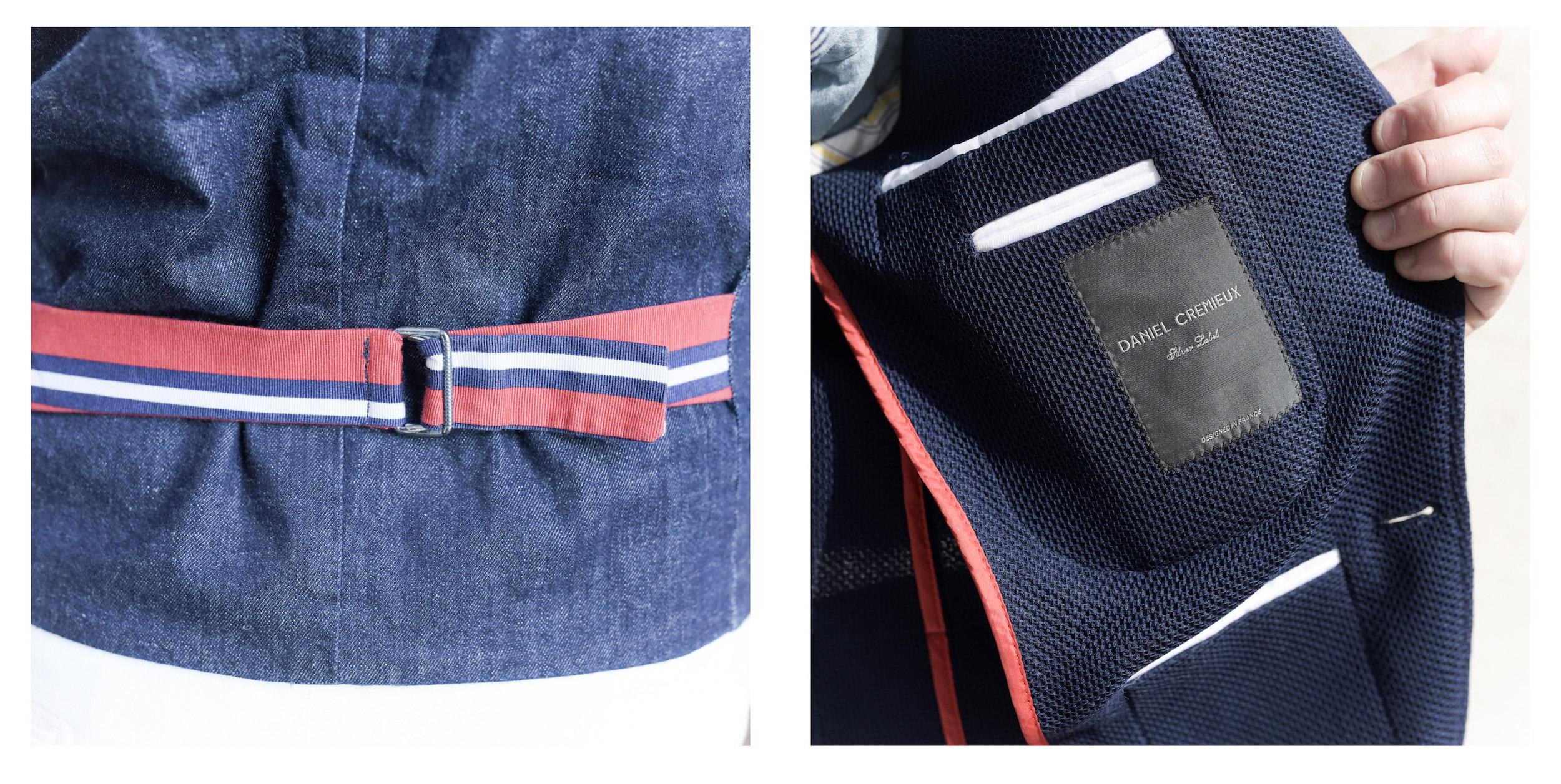 interieur veste blazer bleu marine cremieux