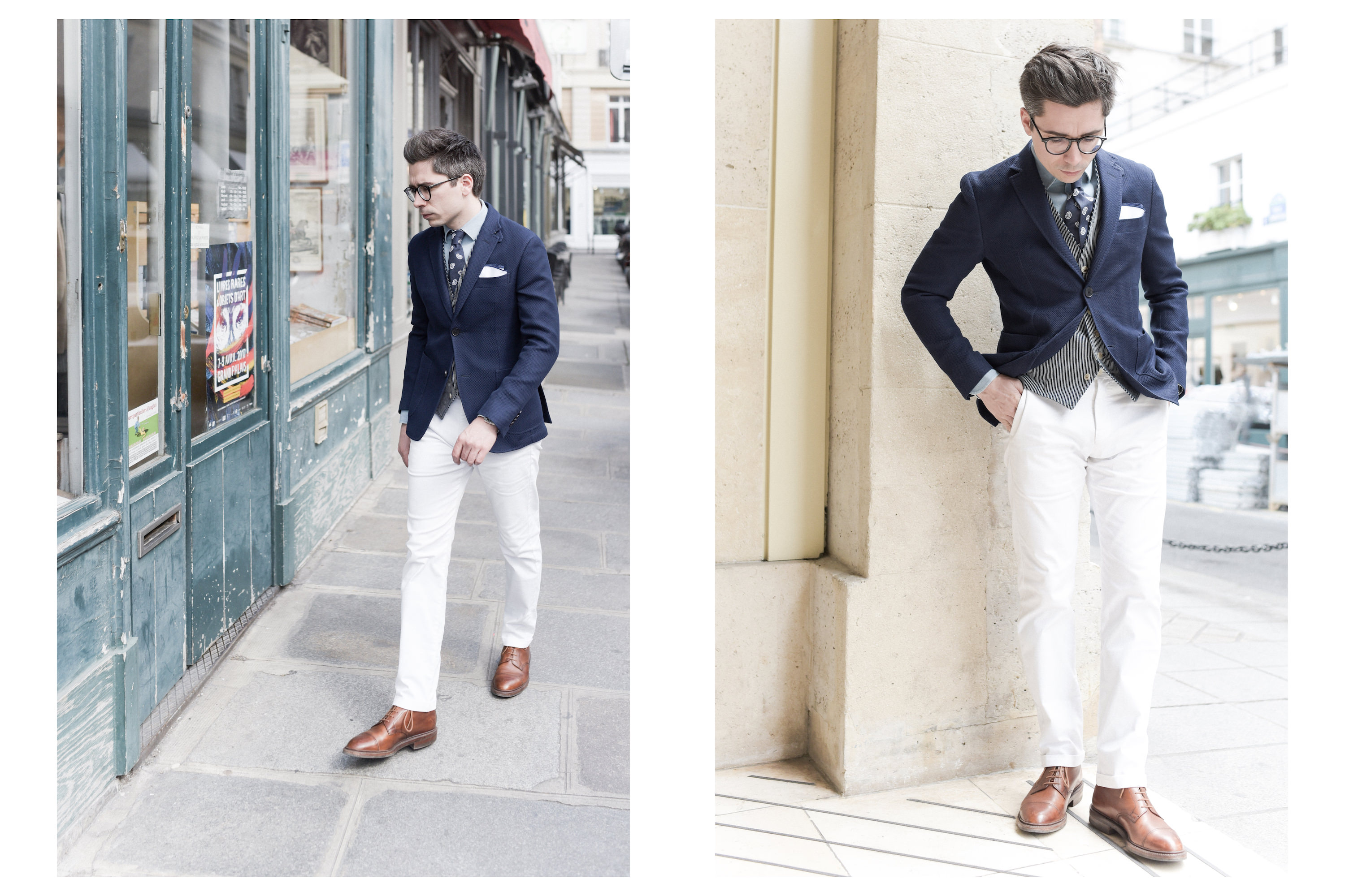 Tenue avec pantalon blanc fashion designs for Pantalon interieur homme