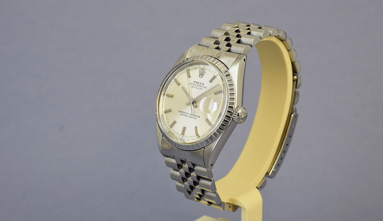 rolex datejust 1603 no lume dial 1970