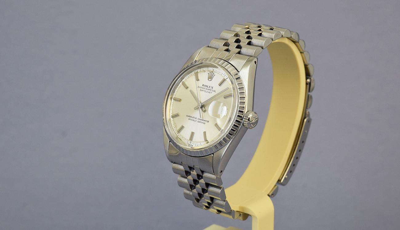 rolex datejust 1603 no lume dial 1970