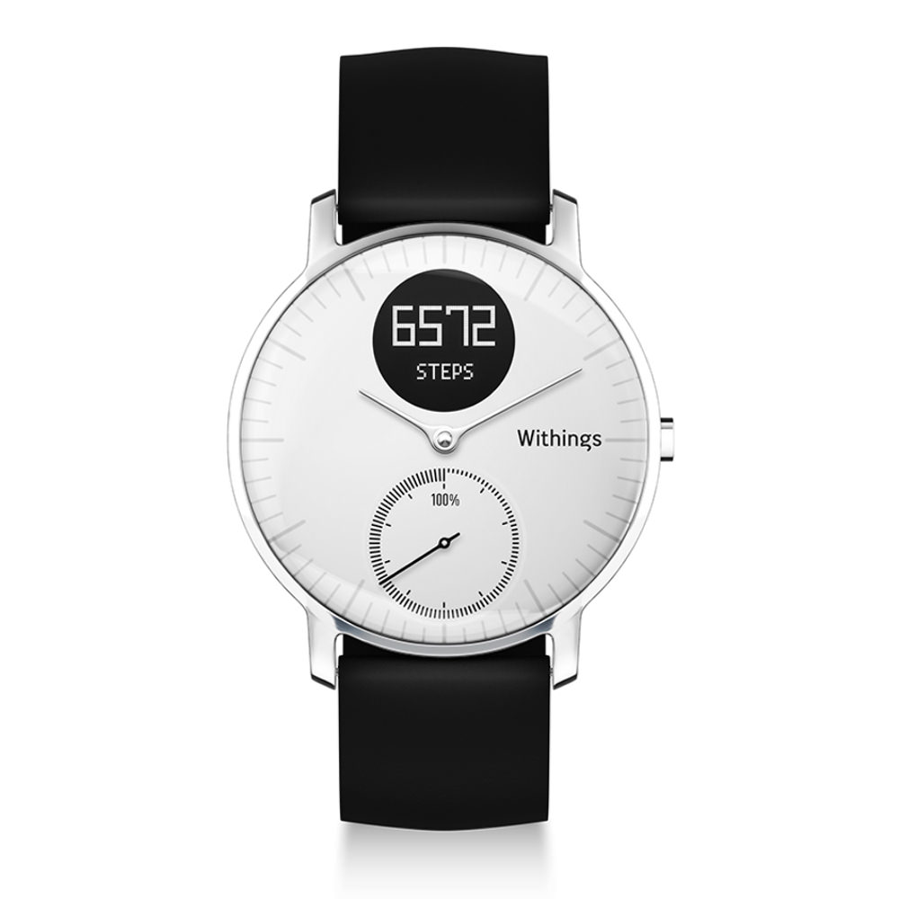 montre withings steel hr blanche