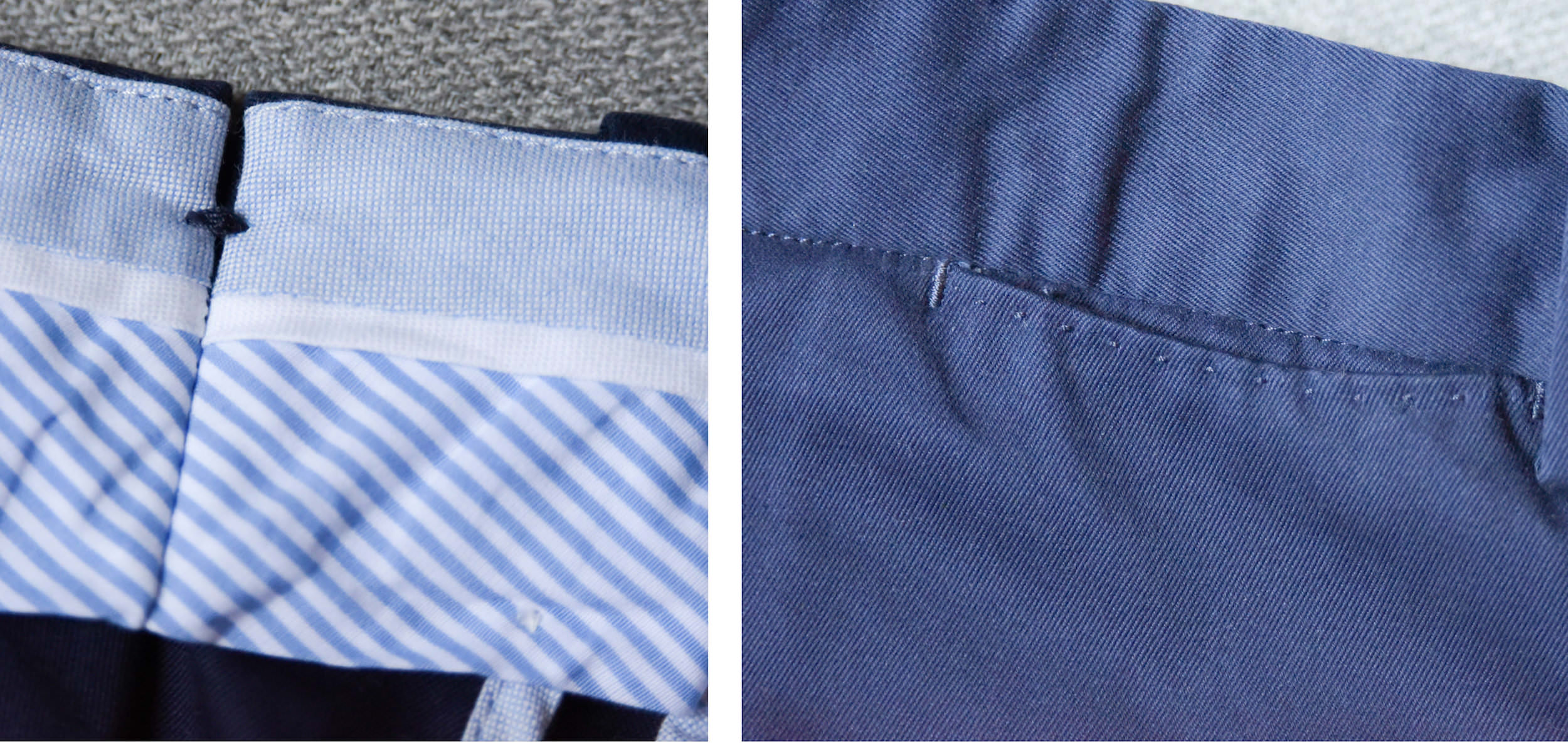 pantalon homme details couture