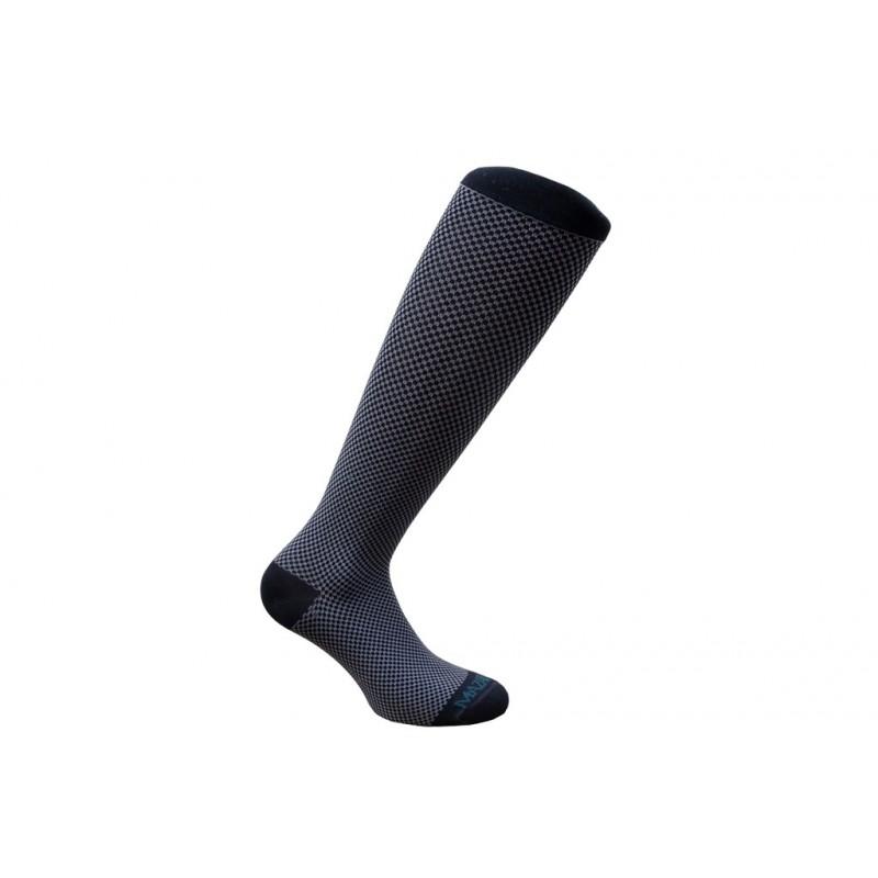 mi-bas-chaussette contention mazarin noir gris