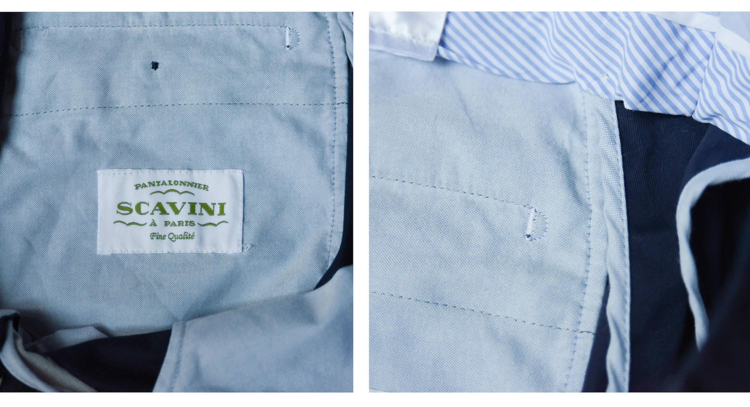 detail pantalon scavini