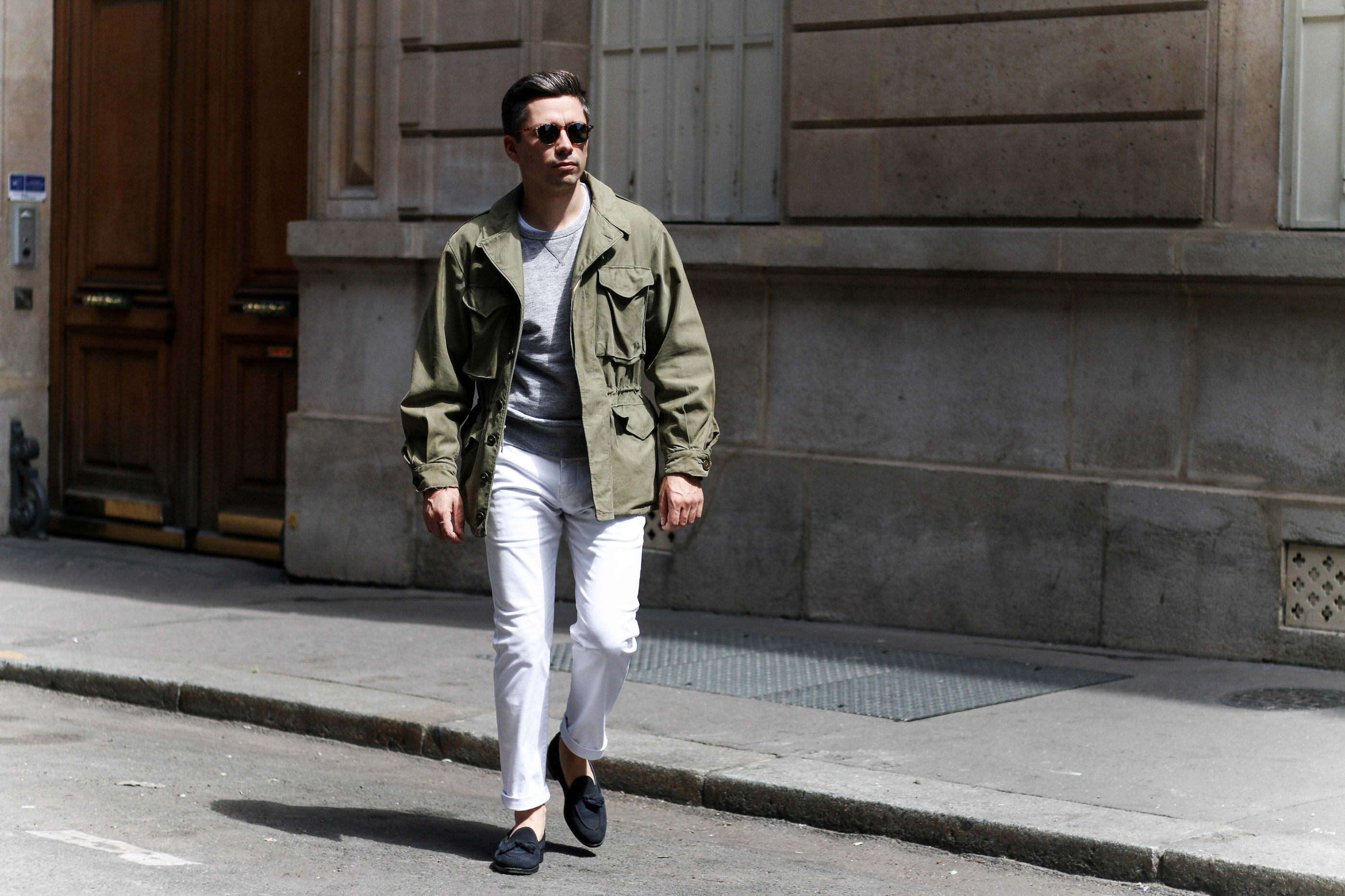 look military jacket homme