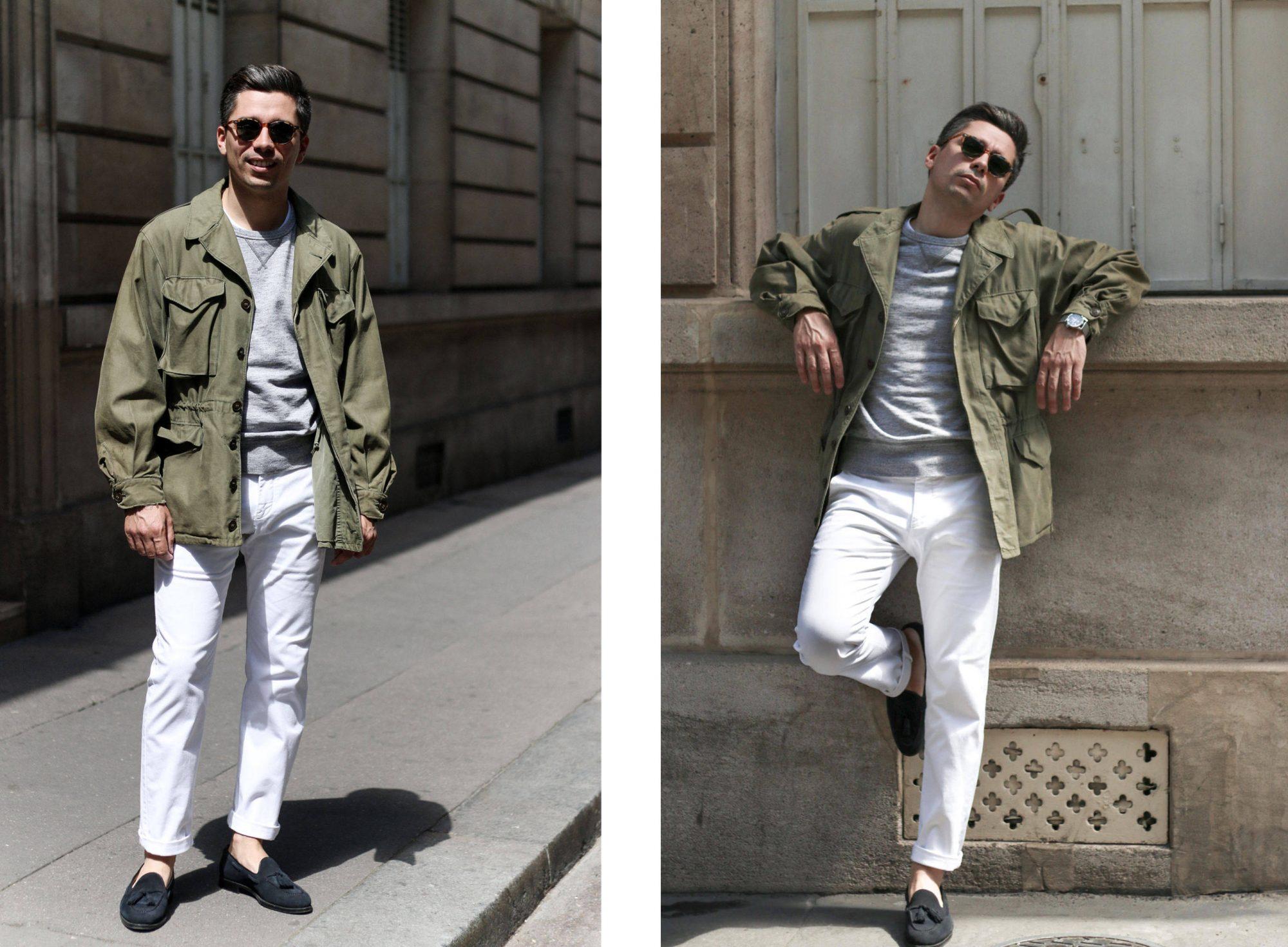 style homme veste militaire look veste m43 m-1943