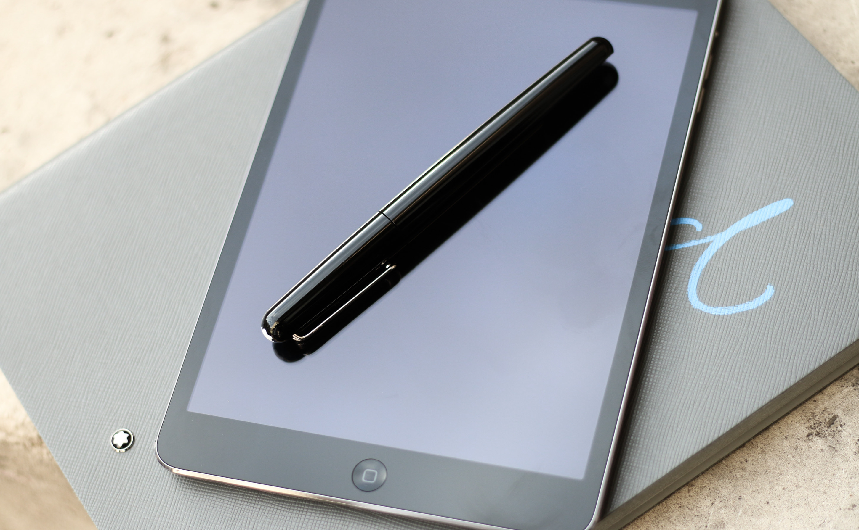 stylet mont blanc ipad notebook