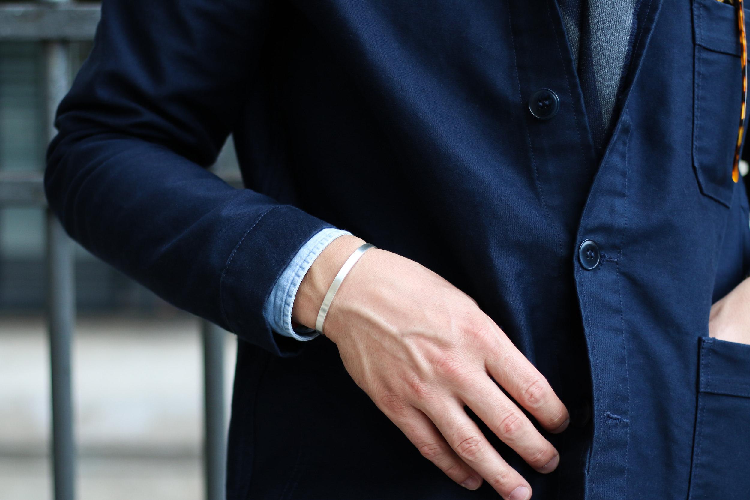 bracelet jonc argent homme