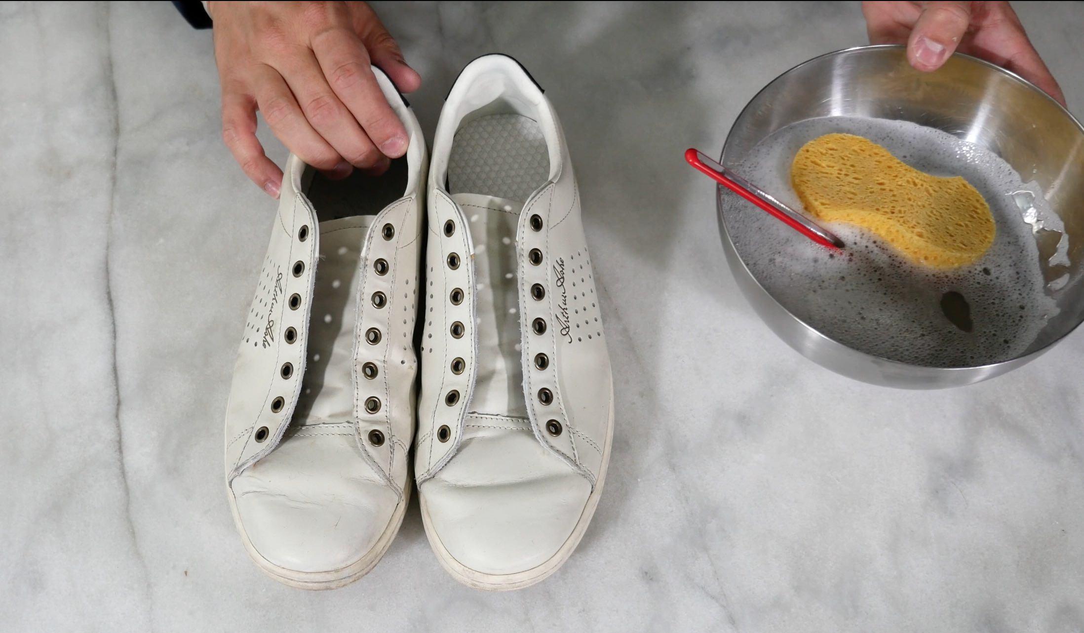 comment entretenir ses baskets blanches cuir blanc