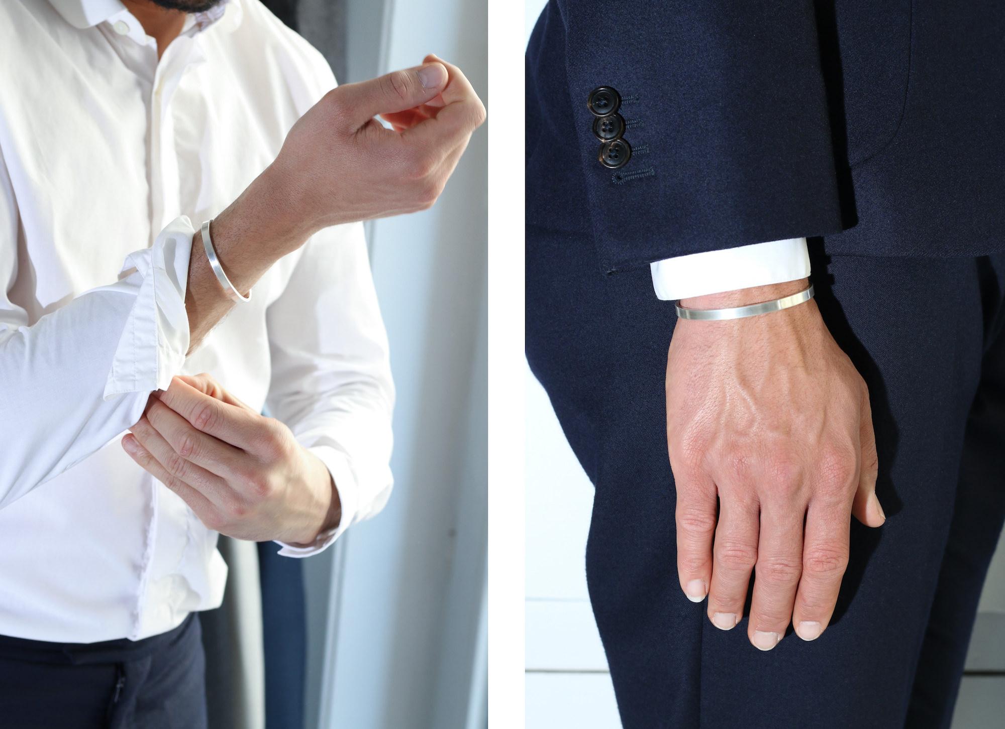 porter bracelet argent homme