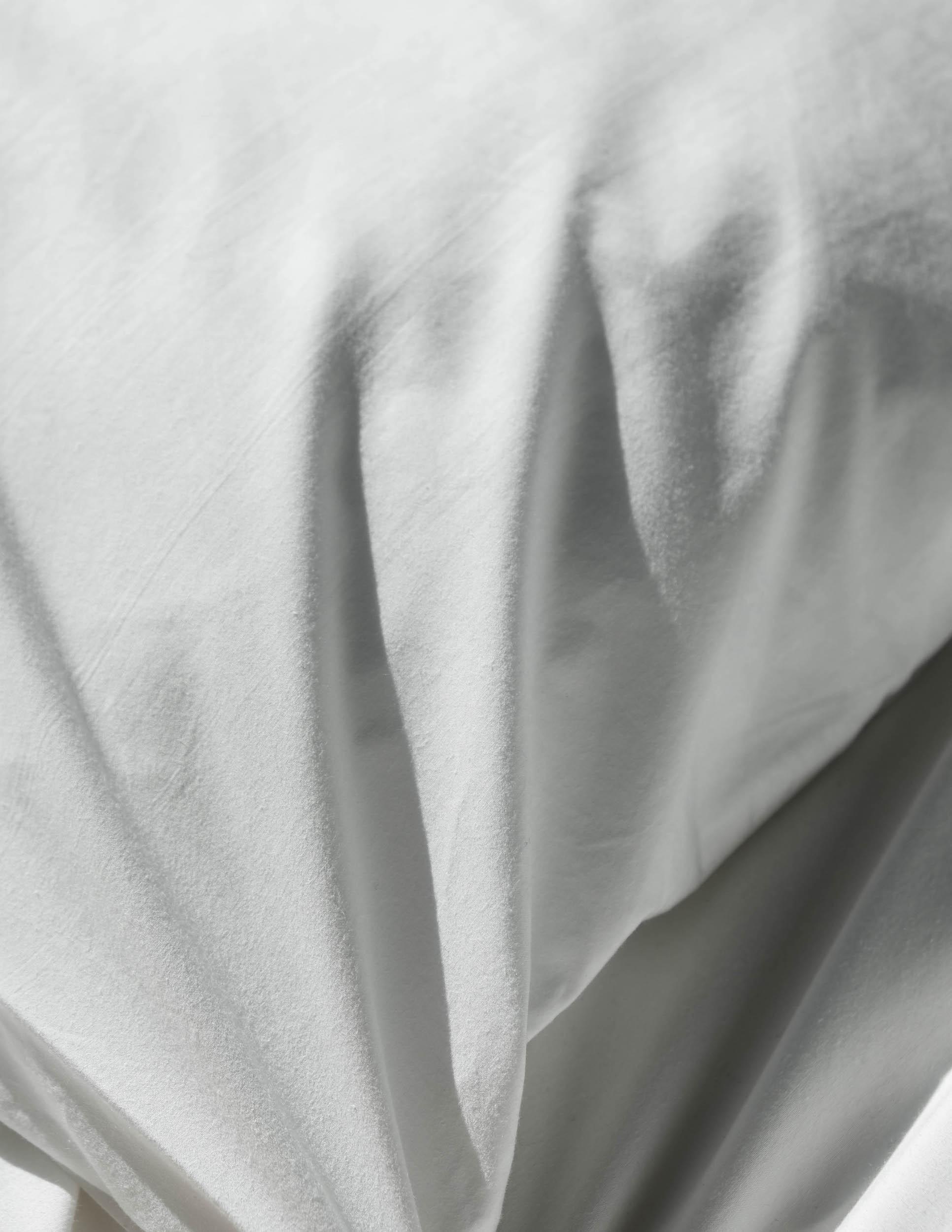 Bonsoirs draps coton blanc