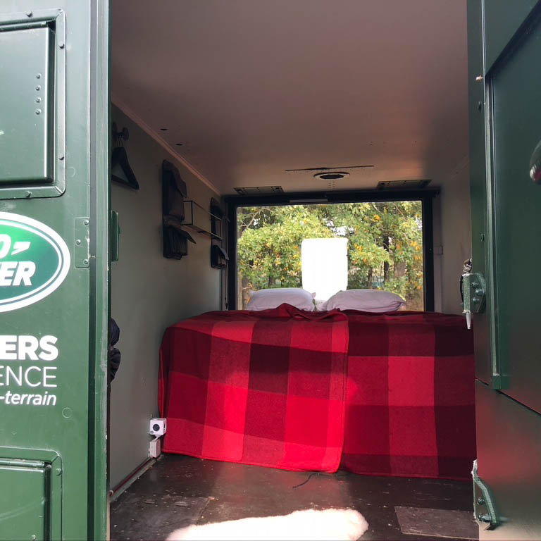 Interieur Land Rover Shelters Experience