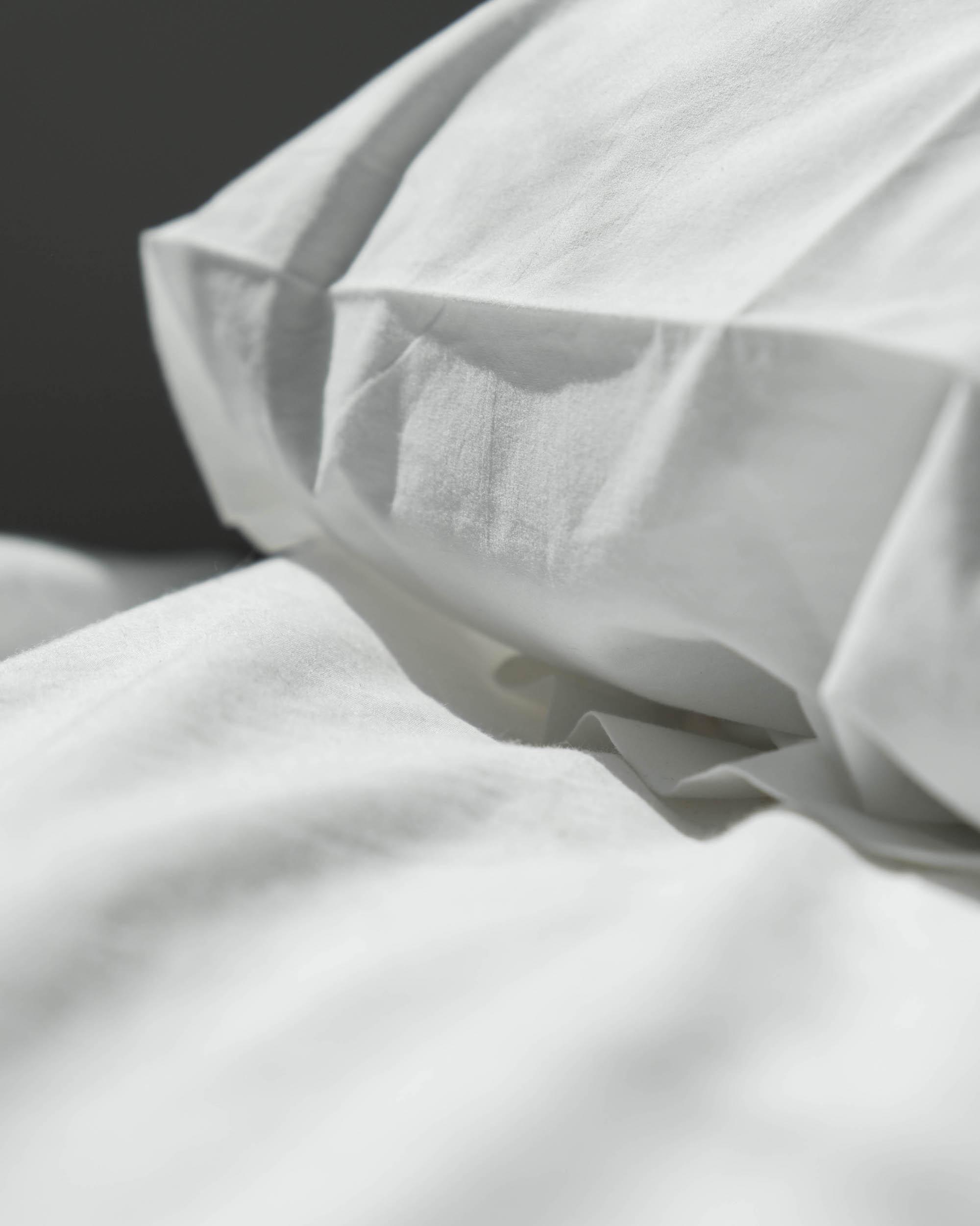 coton draps blanc