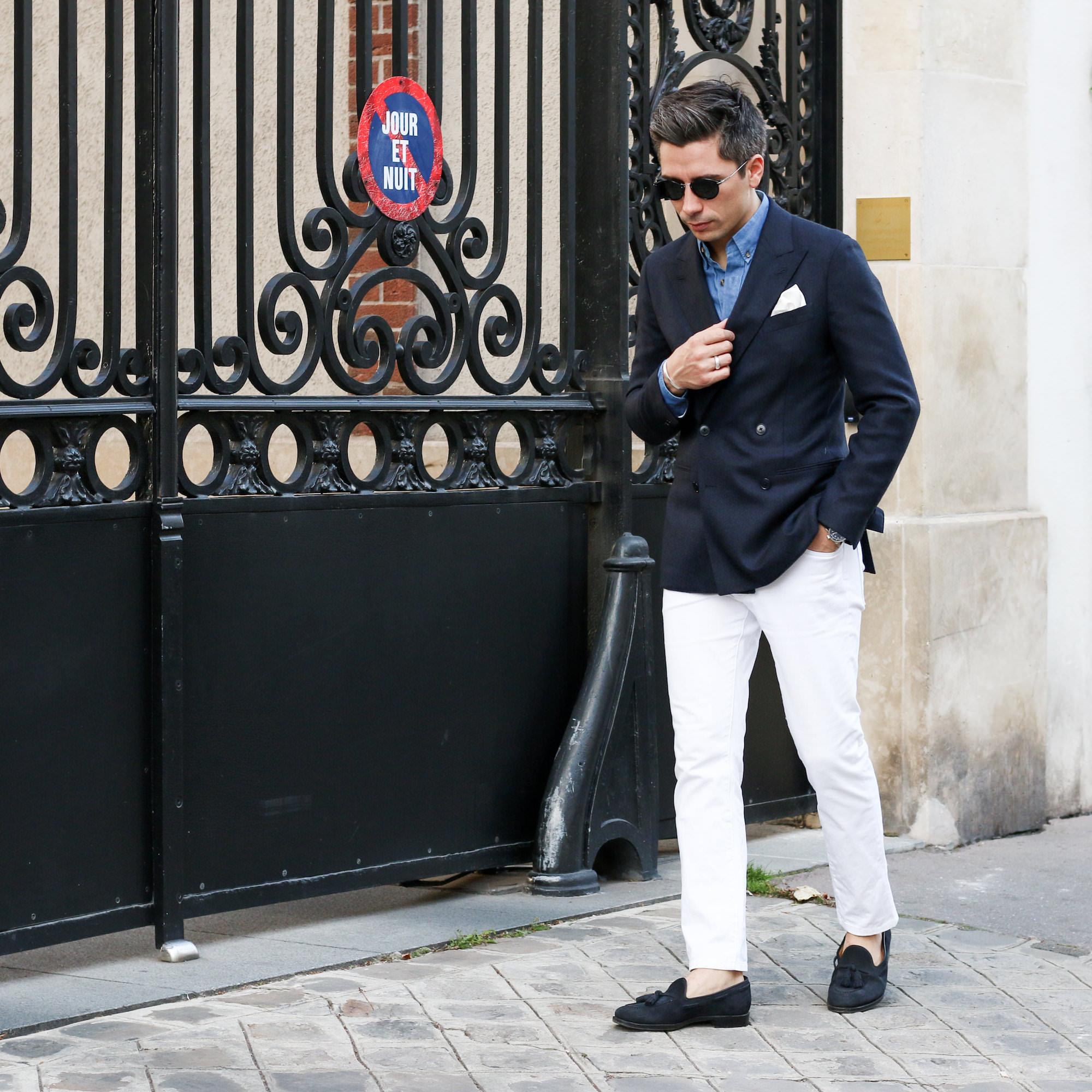 look blazer bleu homme