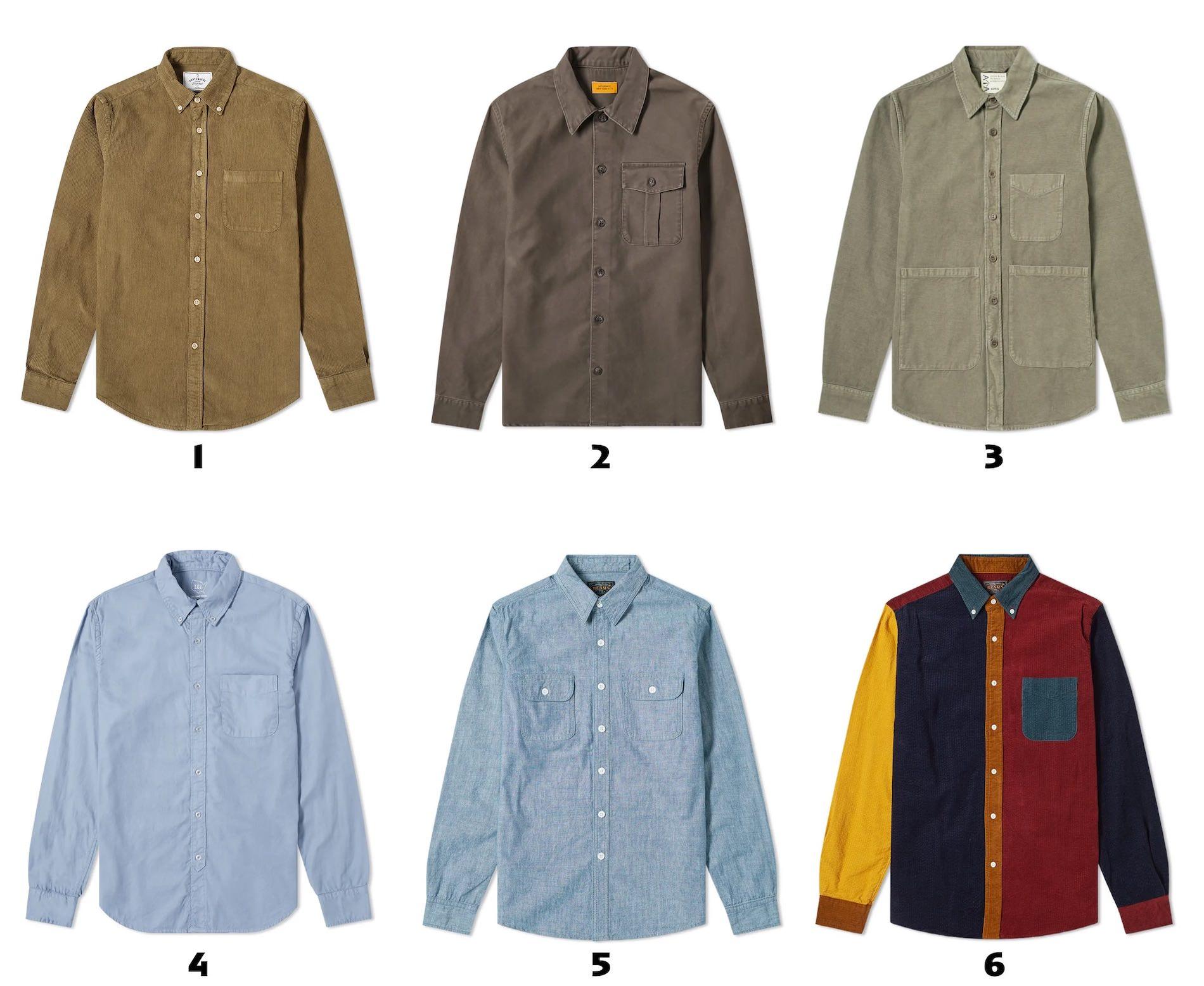 selection de chemises decontractees pour homme