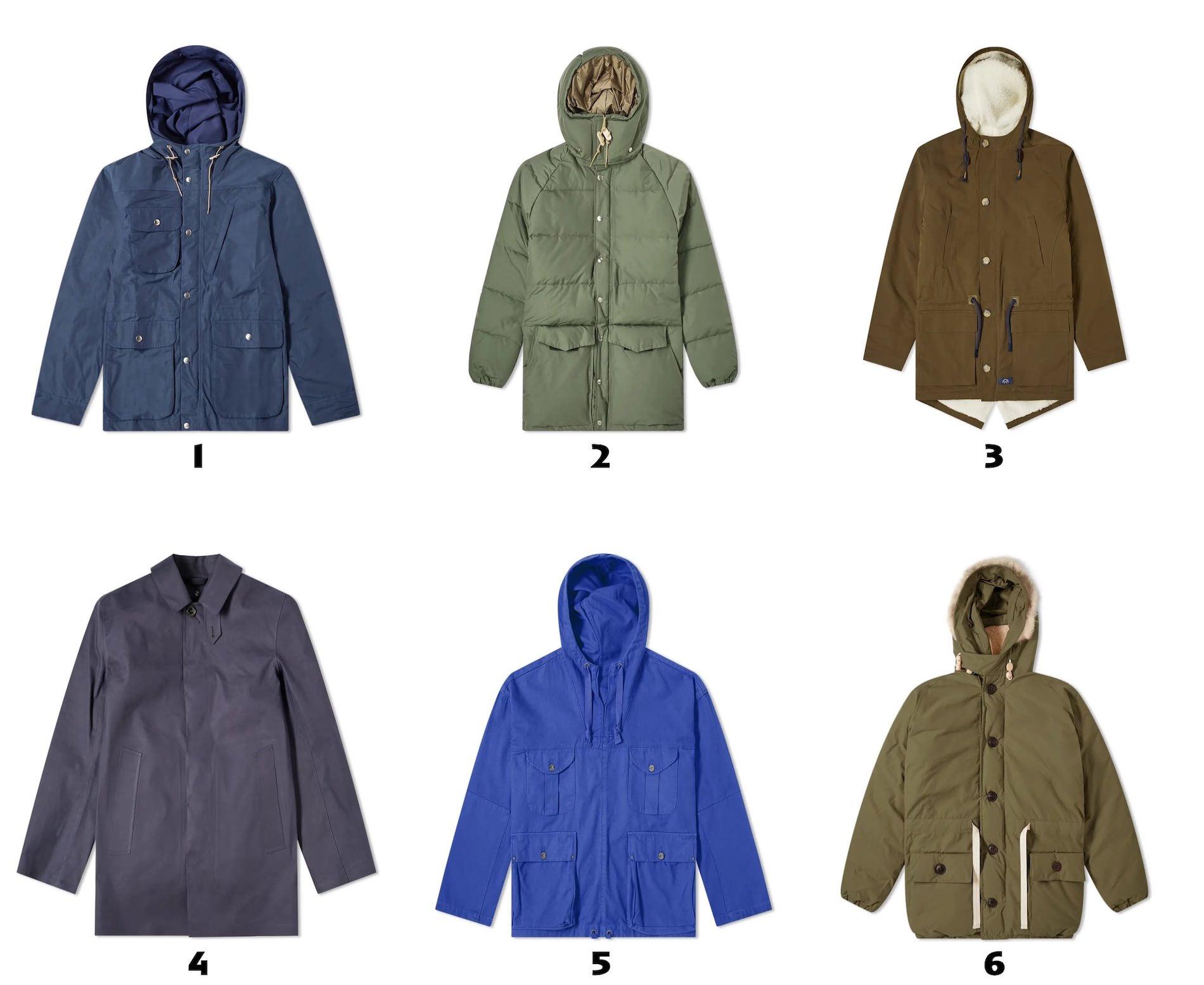 selection de manteaux pour homme