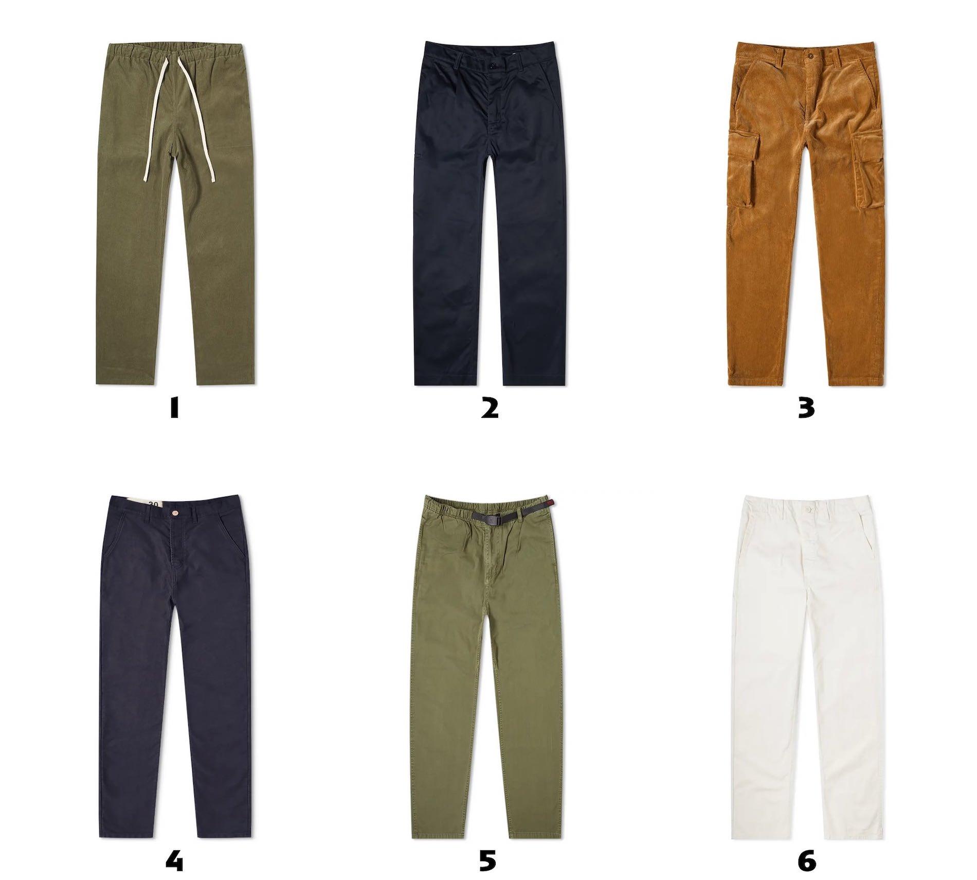 selection de pantalons decontractes pour homme