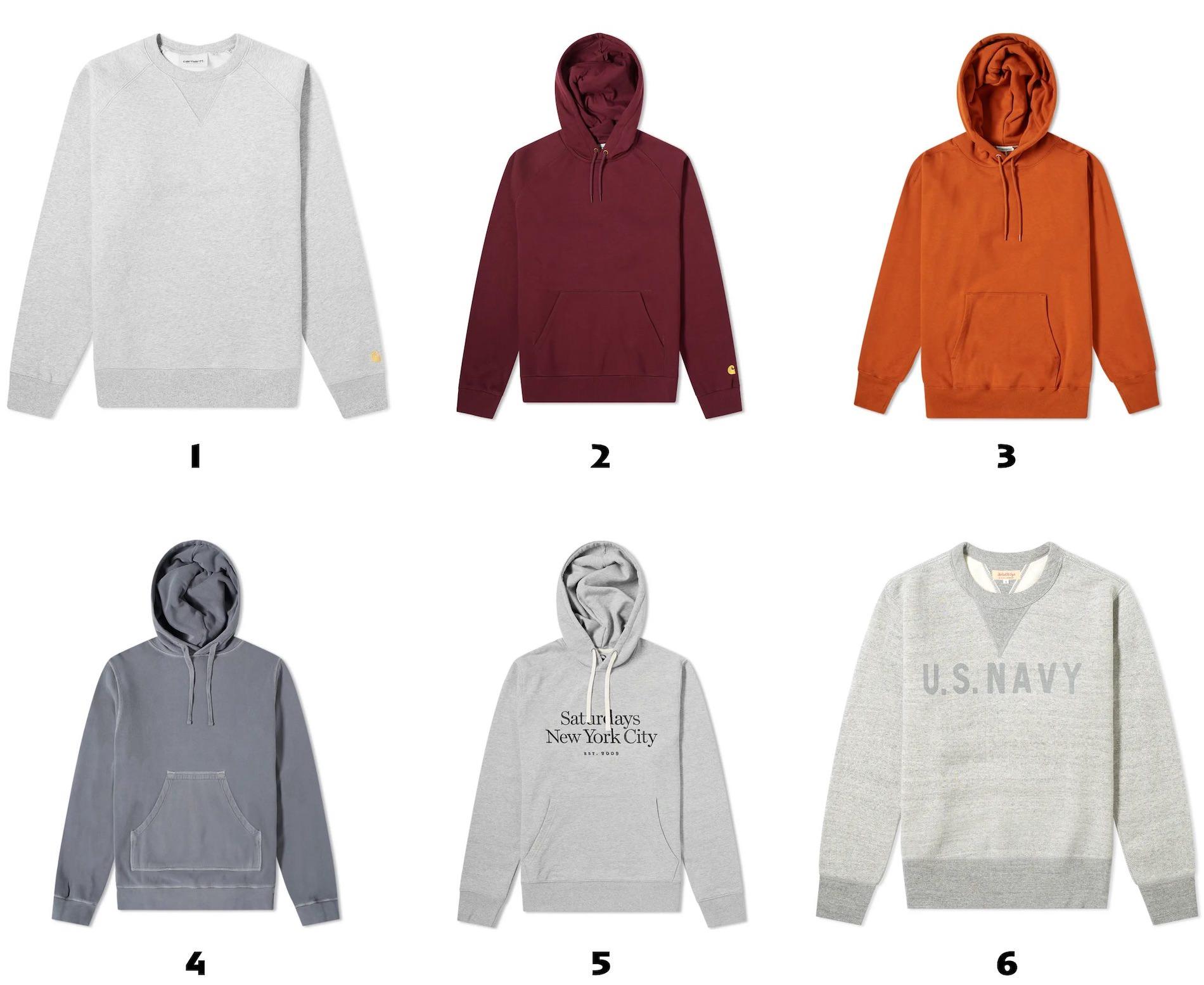 selection sweatshirts pour homme